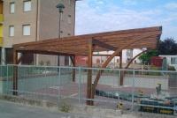 carport per auto in legno
