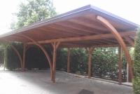 copertura per auto in legno, tettoia per auto