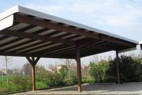 tettoia in legno per auto