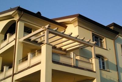pergolati in legno per terrazzi