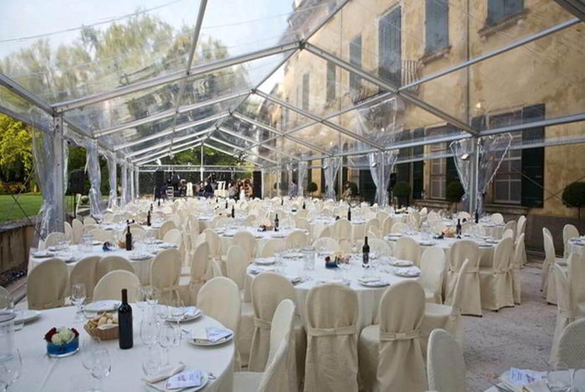 Tensostrutture trasparenti, gazebi grandi dimensioni Modena